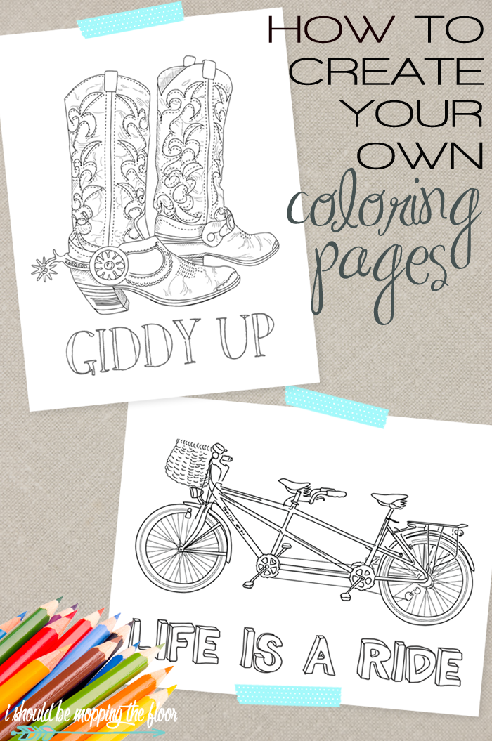 How to Create Your Own Coloring Pages | Coloring pages ...