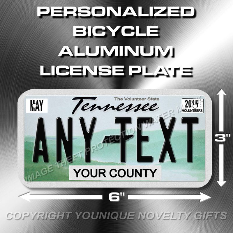 Tennessee Custom ANY TEXT Bicycle Toy Bike Power Wheels License ...