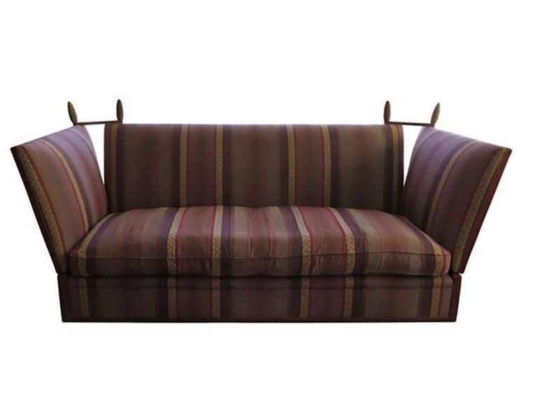 Tremendous George Smith Striped Knole Sofa In Burgundy Stripe Inzonedesignstudio Interior Chair Design Inzonedesignstudiocom