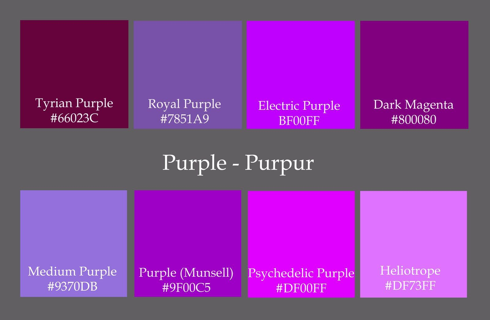 Code Purple And The Colours Colour Codes I Found For Violet Really Do