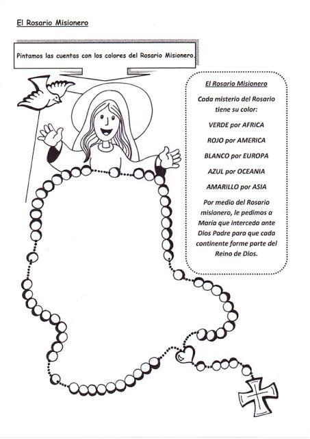 Rosario Misionero Rosario Misionero Rosario Para Ninos Catequesis