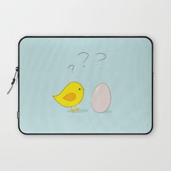 #laptopsleeve #blue #cartoon #chicken #egg #cute