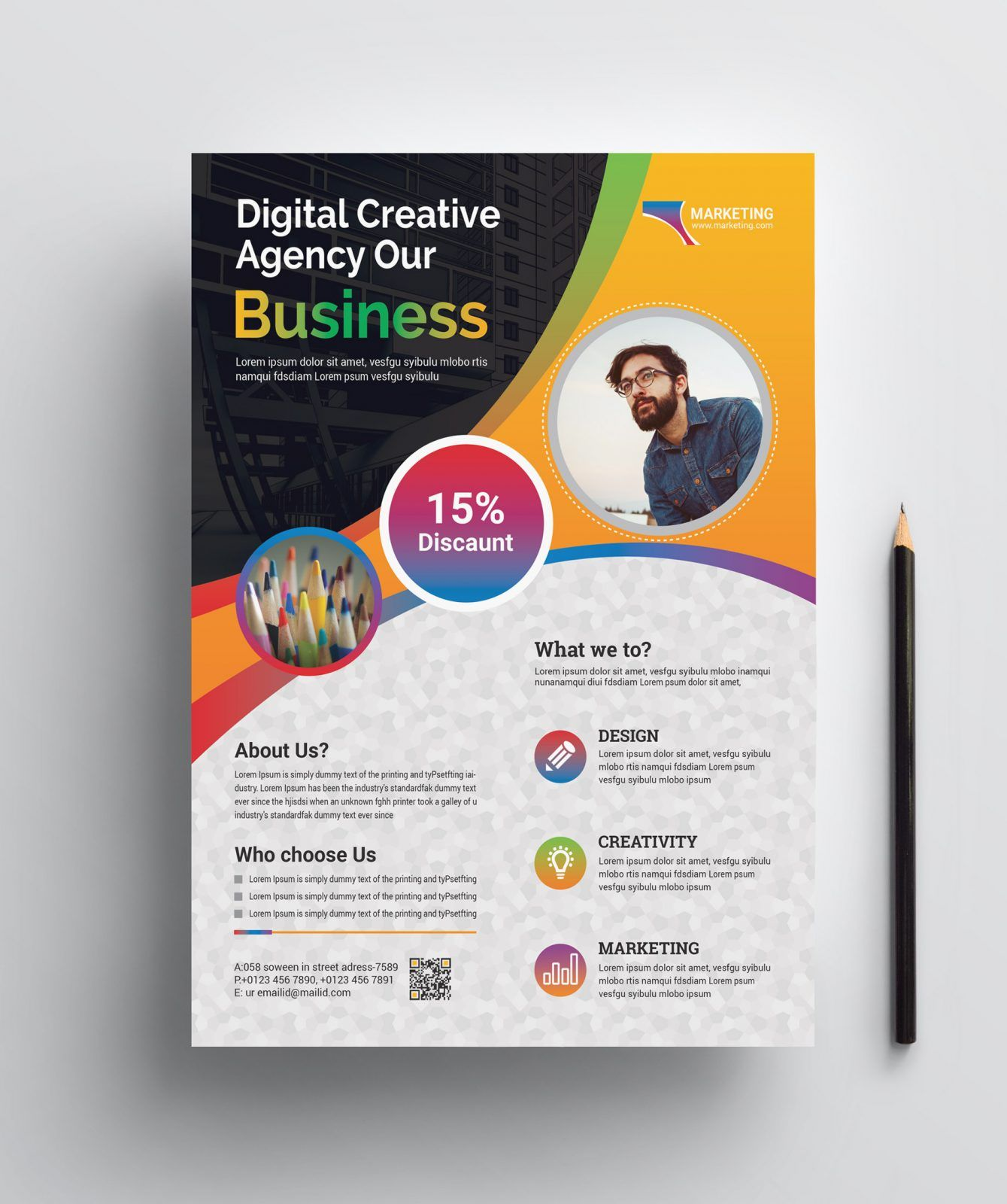 Professional Print Flyer Template 002457 | Graphic ...