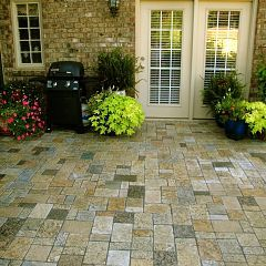 Decorative Patio Tiles Classy Solid Granite Landscape Paver Patio  Before & After Pictures Inspiration