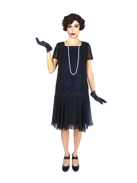 870fc7f0bbd Retro Flapper Dress Roaring 20s Great Gatsby Sheath Loose Downton Abbey  Dress Flapper Costume Custom