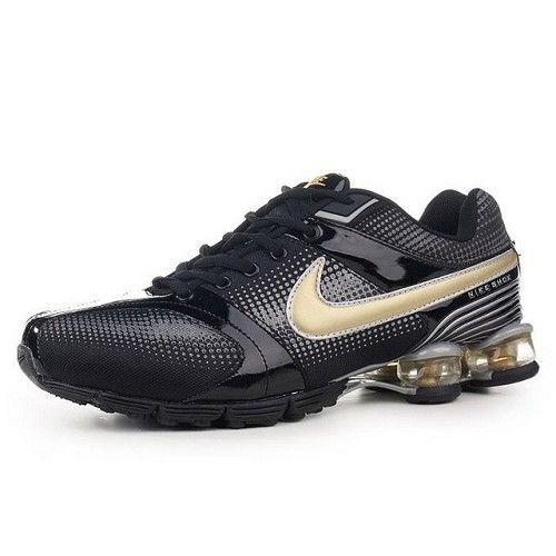 new concept 84e16 32600 Best Seller Nike Shox R4 Black Gold Men Shoes 1005  56.8