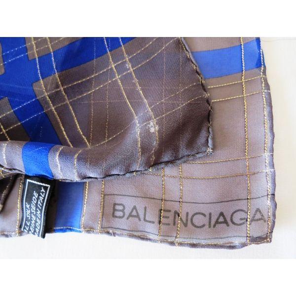 foulard carré en soie, tuch scarf square, soie, silk, seta, BALENCIAGA