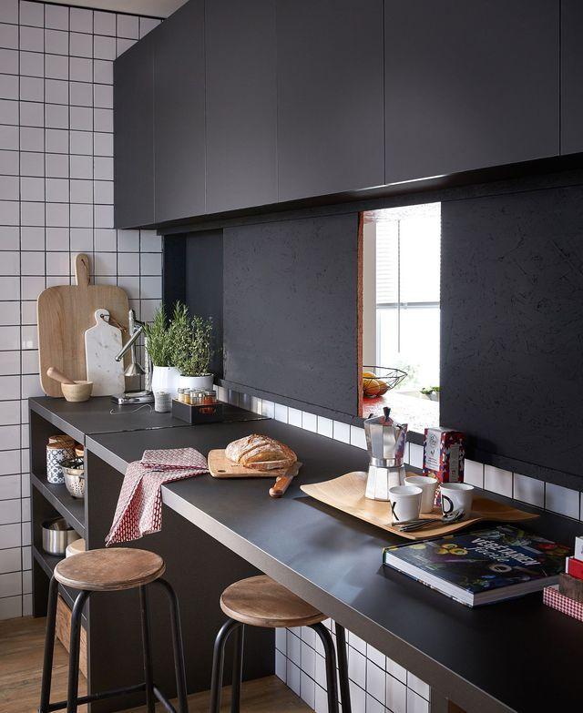 Cuisine aménagée conseil  plan de travail, rangement, triangle d - installation plan de travail cuisine