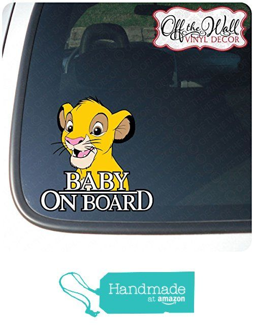 Simba Baby On Board Sign Vinyl Decal Sticker For Cars Trucks From Off