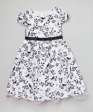 2bd0cc326e20b3 Love this White Bird Blossom Aubrey Dress - Girls by Joe-Ella on  zulily!   zulilyfinds