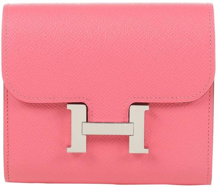 Photo of Constance leather purse Hermès Pink in Leather – 7688909