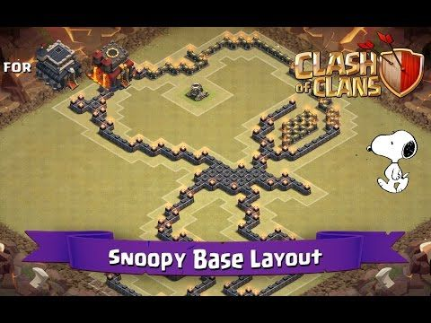 Clash Of Clans: TH9 | TH10 | Fun Base Layout - Snoopy
