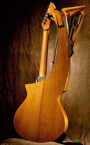 Michihiro Matsuda Harp Guitar (back)