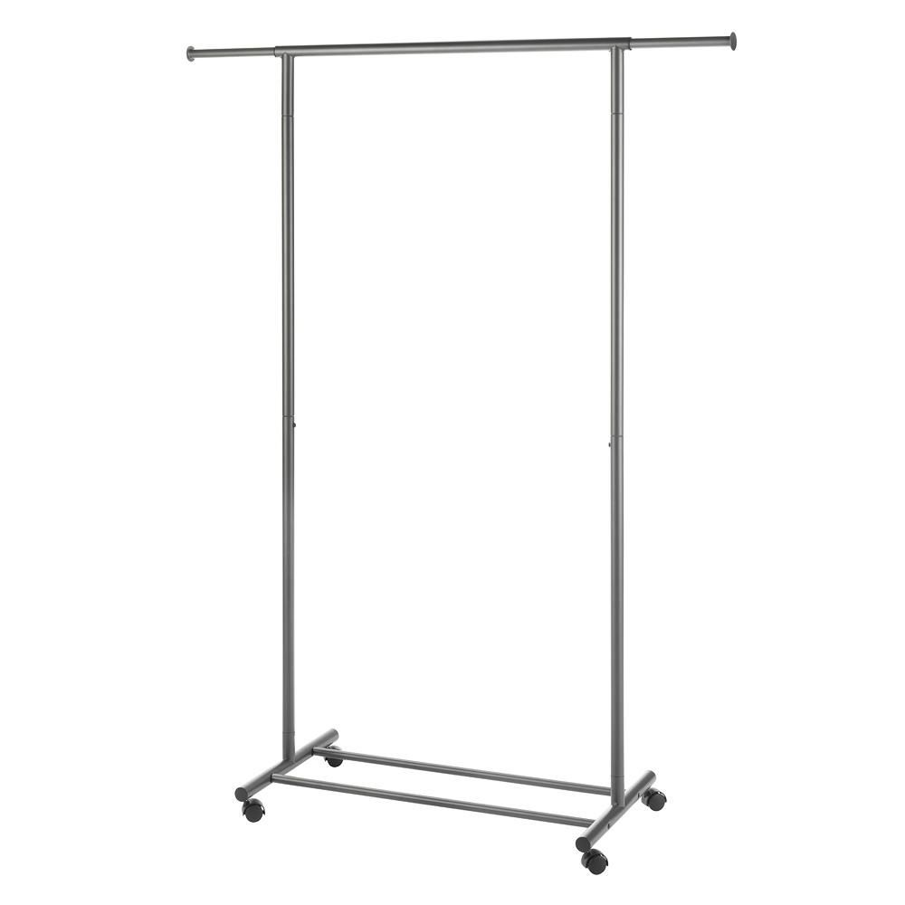 Portable And Expandable Garment Rack In Black Chrome 18 Months Supreme Garmentcloset Collection 3350 Inw X 6663 Inh