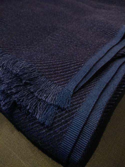 New Cesare Attolini Light Blue Cotton Blend Scarf