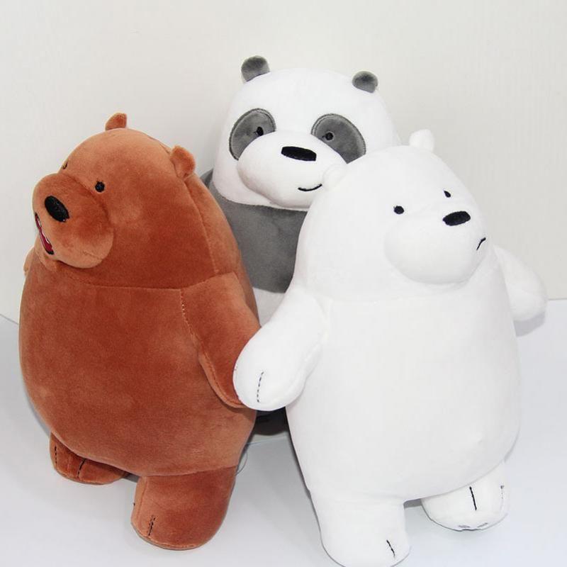 We Bare Bears Ice Bear Plush Toys Cute Stuffed Doll Soft Pillow Kids Gifts