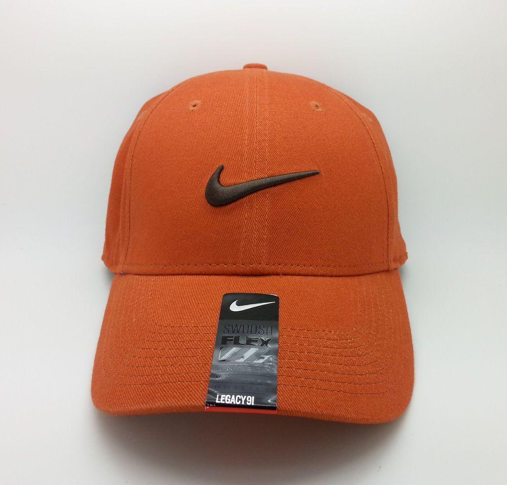 dc1a99629 NIKE LEGACY 91 ADULT UNISEX SWOOSH FLEX BURNT ORANGE HAT/CAP (ONE ...