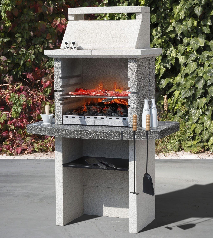 Barbecue à Charbon à Bois En Pierre Reconstituée