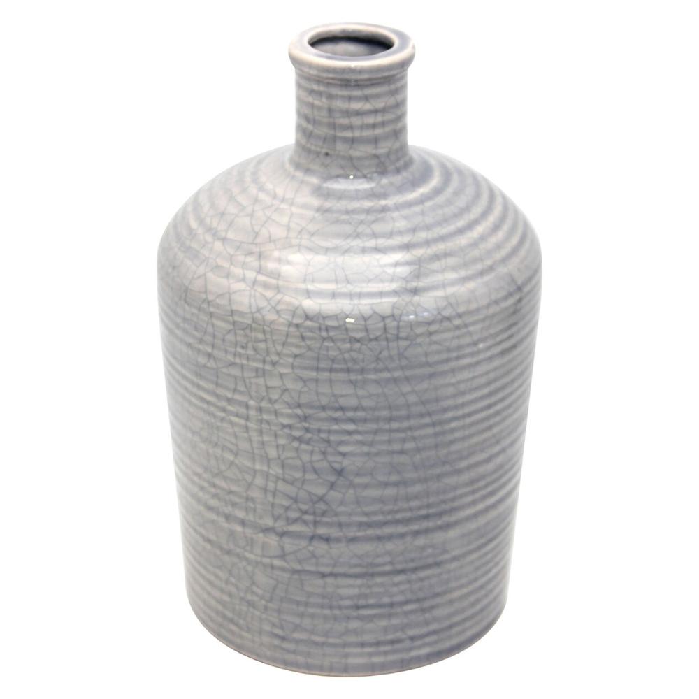 Blue Ceramic Vase, 10