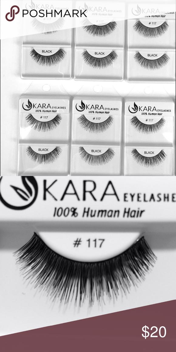 Kara Eyelashes 117 Black 100 Human Hair 6 Pack Boutique My