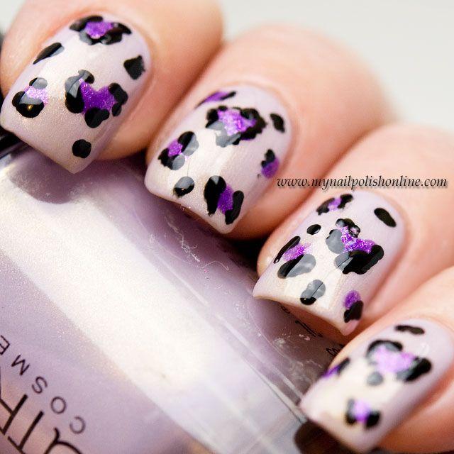 Nail Art Leopard Hearts Leopards Nail Nail And Colorful Nails