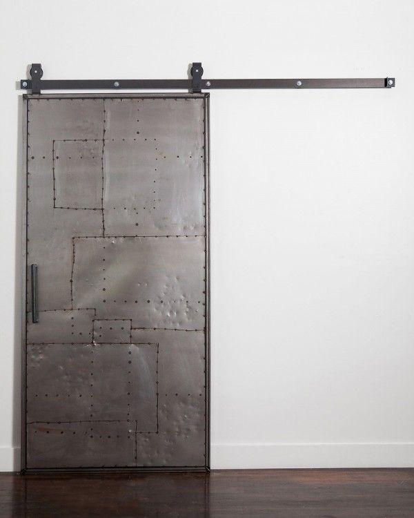 Mountain Scrap Metal Door Hardware Metal Door Industrial Barn Door Garage Door Design