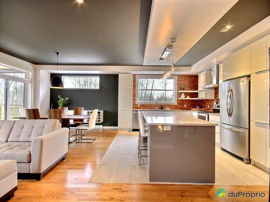 Aire ouverte de r ve voir magog duproprio bungalows - Couleur cuisine salon air ouverte ...