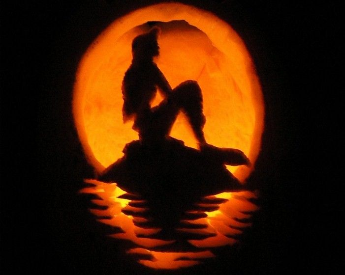 35 Amazing Pumpkin Carvings Mermaid For The Love Of