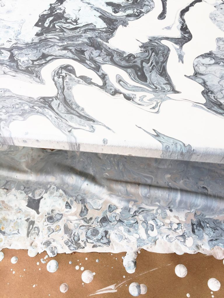 Pour art techniques, how to create a modern marble art work for your home