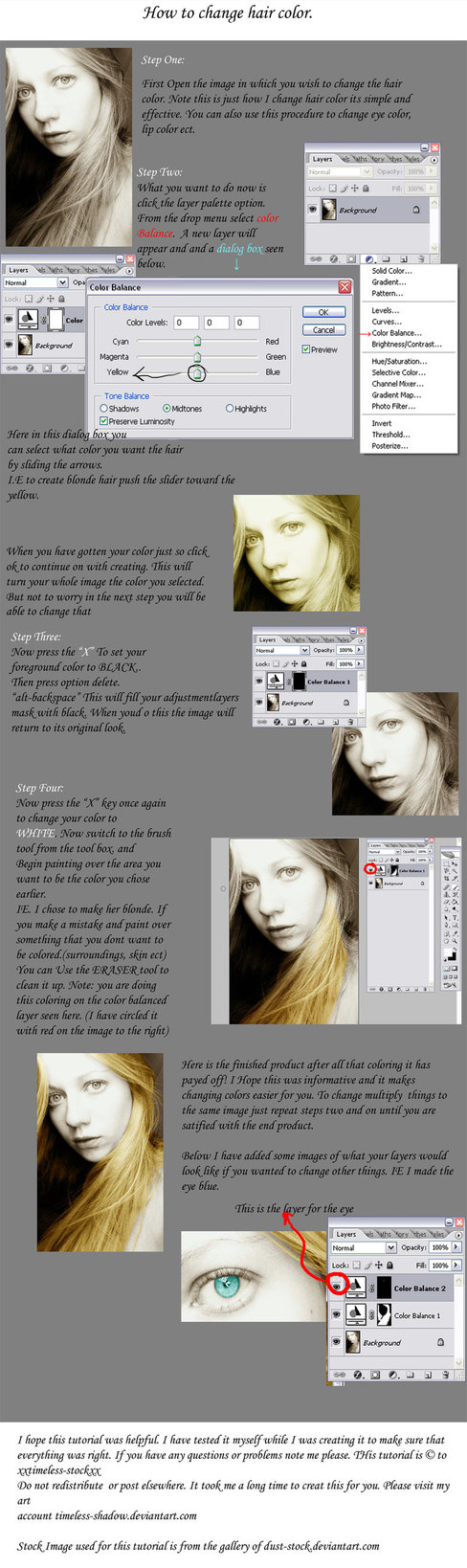 How To Change Hair Color In Photoshop Tutorials Artsy Photoshop