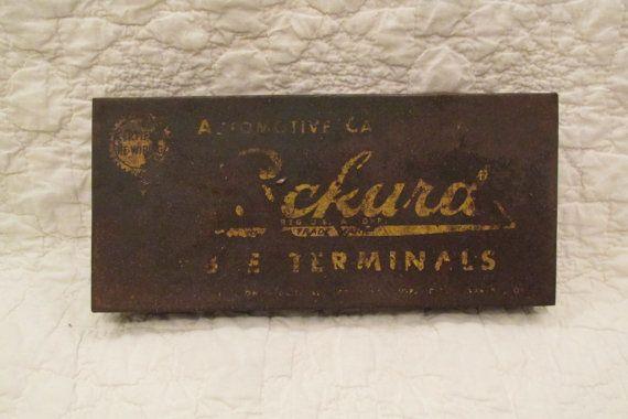 Vintage Rusty Metal Terminal Box   #pin #old #box #ship #picture #tool #vintage #VintageRedButtons #VintageWallHanging #VintageKeys