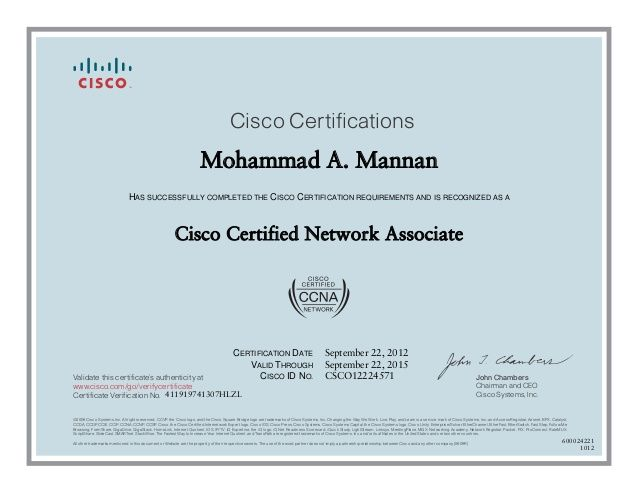 a cisco ccna certification is the first step towards having a cisco certified network associate - Cisco Certified Network Associate Sample Resume