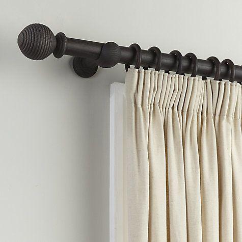 Buy John Lewis Wood Curtain Pole Kit Dia35mm Charcoal 65 90