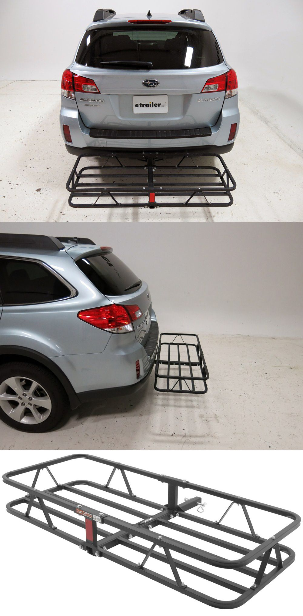 17x46 Curt Cargo Carrier For 1 1 4 And 2 Hitches Steel 500