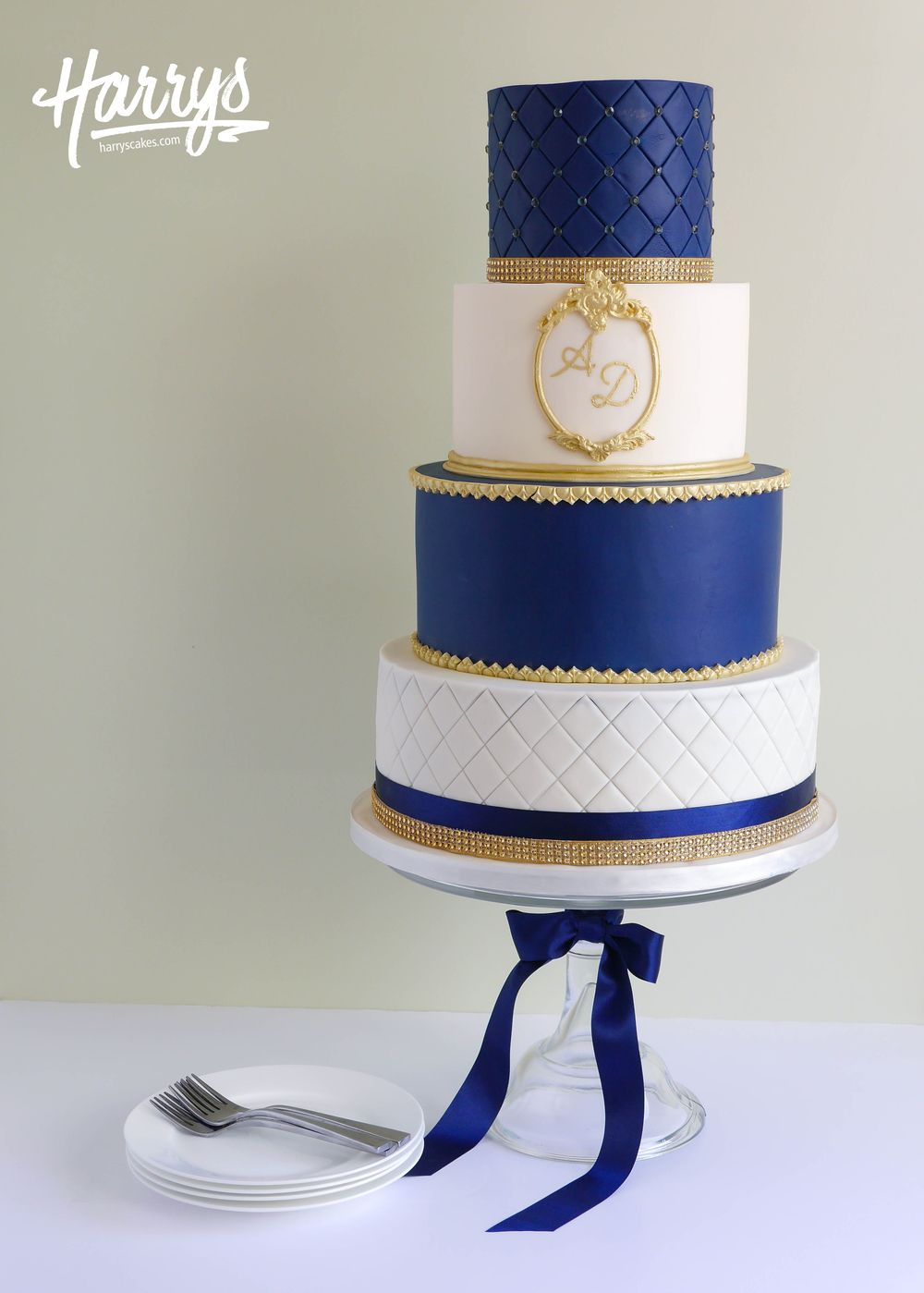 Navy Quilted - Harrys Cakes
