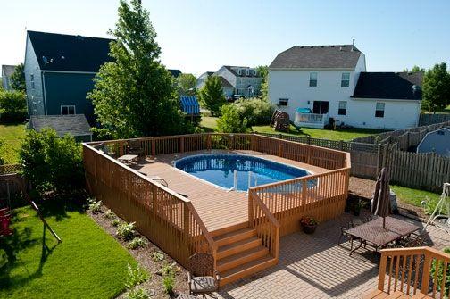 Wood pool deck! //www.rocksolidbuildersinc.com ... Small Backyard Ideas With Swim Html on