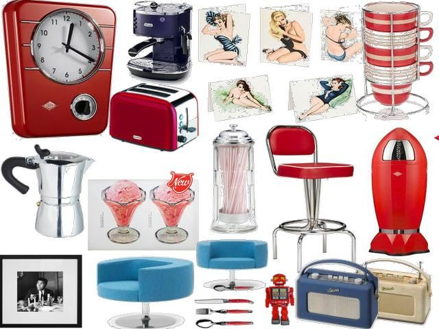 American Diner Styled Goodies So Classic Diner Decor Retro