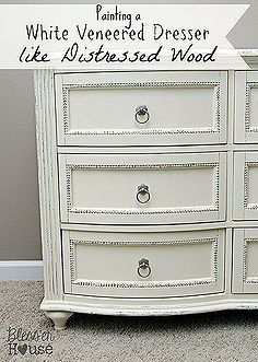 Painted Furniture Dresser Distressing Veneer Wood Chalk Paint