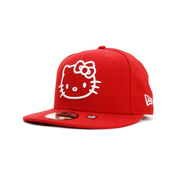 3944c61fd14 SANRIO x NEW ERA 「HELLO KITTY II」59Fifty Caps ❤ liked on Polyvore featuring