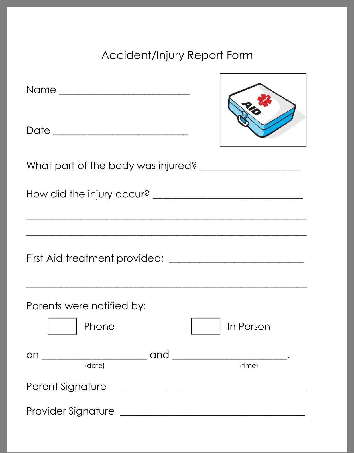 Pin By Krys Jenn On Preschool Classroom Daycare Forms Starting