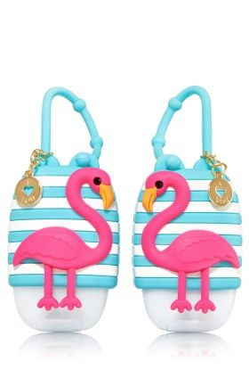 Bff Flamingo Pair Of Pocketbac Holders Bath Body Works One