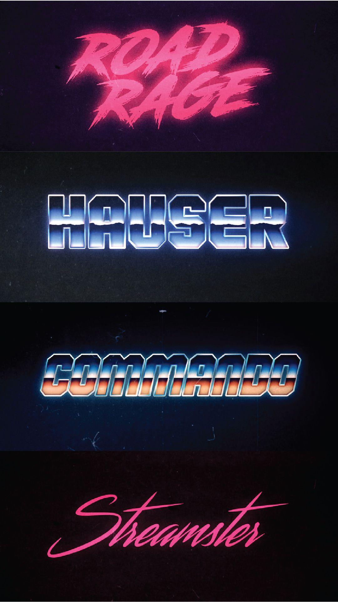 Best, trending 80s fonts, free download, retro design, top