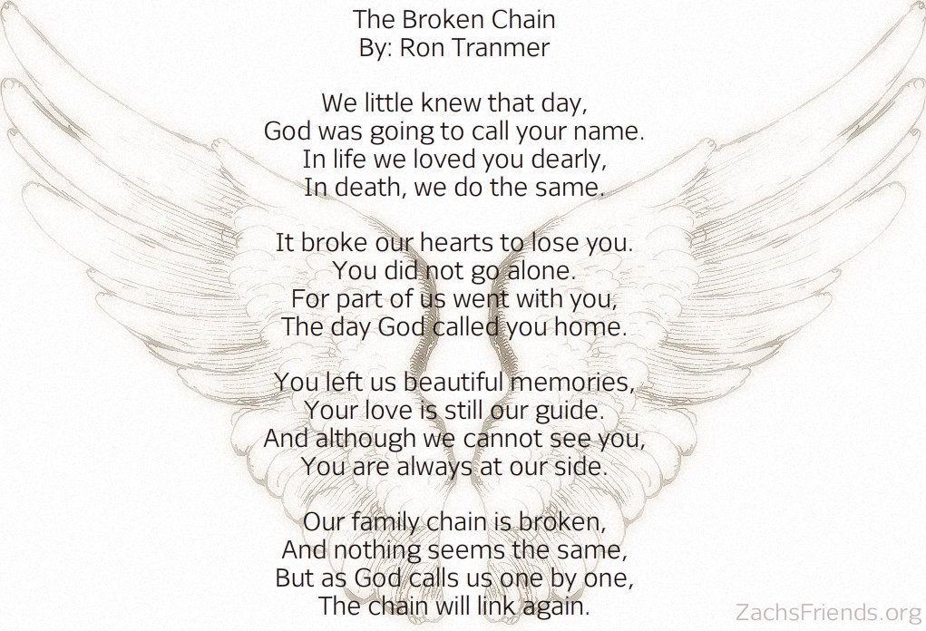 The Broken Chain Poem The Broken Chain Poem Crafts Poems
