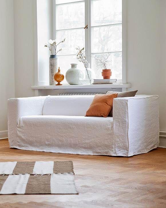 Klippan Sofa Covers 2 Seater Loose Fit Urban Rosendal Pure