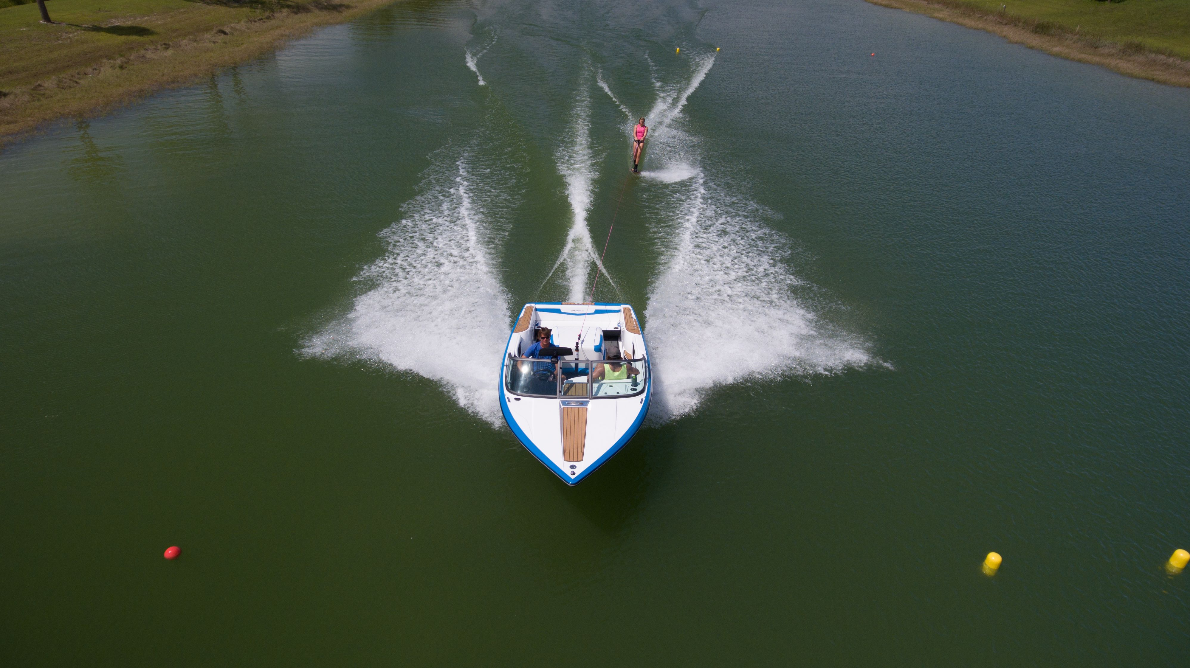 Waterskiing Behind The 2018 Ski Nautique 200 Cb Wakeboard Boats Water Skiing Wakeboarding
