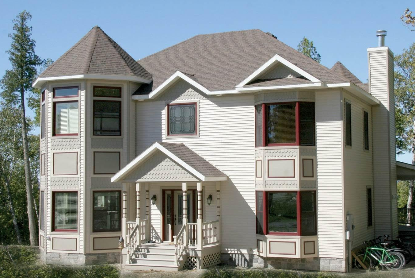 Custom Two Story Victorian Style Modular Home With Covered Entry And Decorative Accents Modular Homes Custom Modular Homes Accent Decor