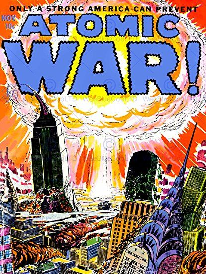 COMIC BOOK COVER ATOMIC WAR MUSHRROM CLOUD EXPLOSION NUCLEAR USA - explosive specialist sample resume