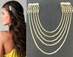 G294G Punk Long Chain Tassels Hair Combs | eBay
