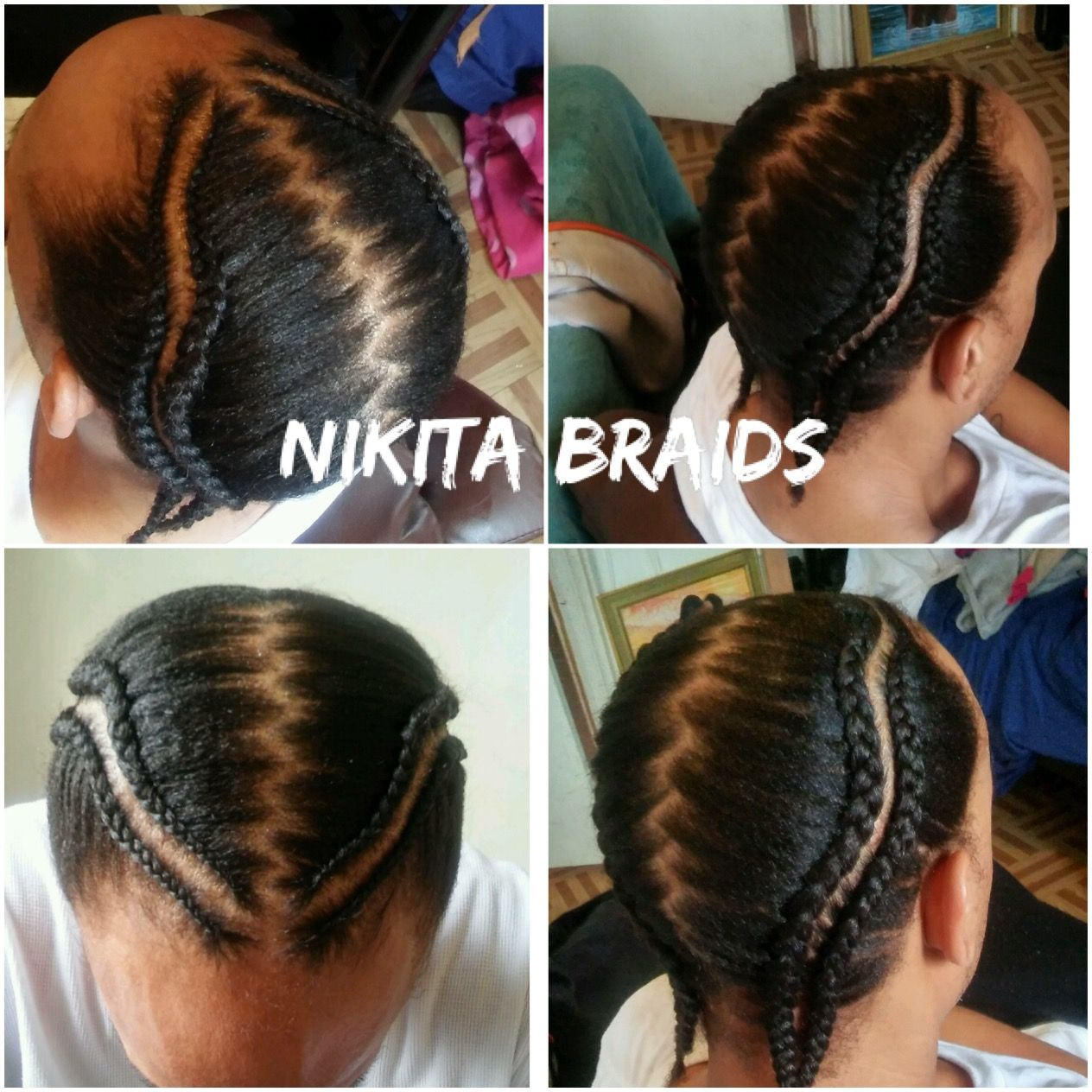 Two Braids Design Zigzag Parts With Images Unique Braids