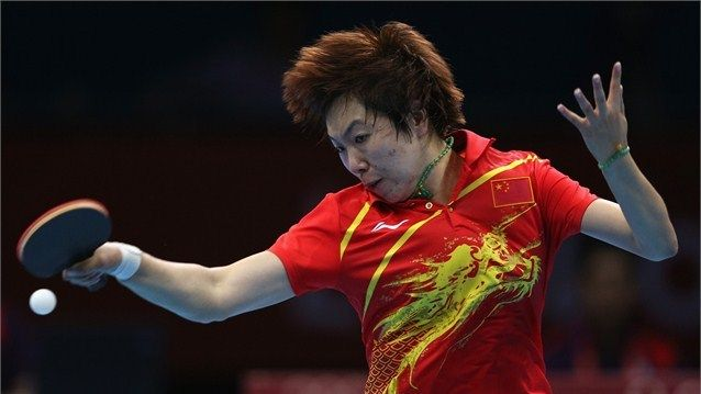 Li edges out Ding to claim gold - London 2012 Olympics  Li Xiaoxia of China competes on her way to winning gold.  Li Xiaoxia of China competes during her women's singles Table Tennis gold medal match against Nng Ding of China on Day 5 of the London 2012 Olympic Games at ExCeL